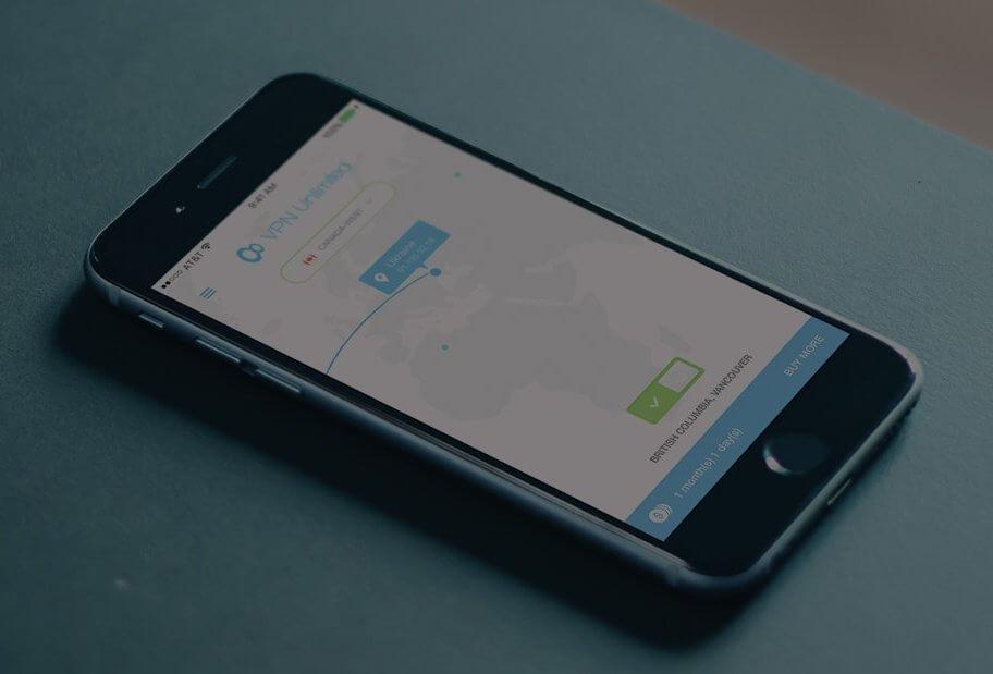 Voorbeeld van een VPN op een iPhone.
